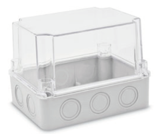 Junction Box Deeper with Knock Outs and Transparent Cover