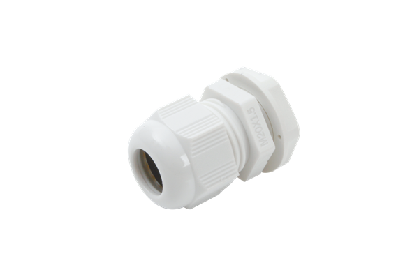 WHITE NYLON GLAND M20