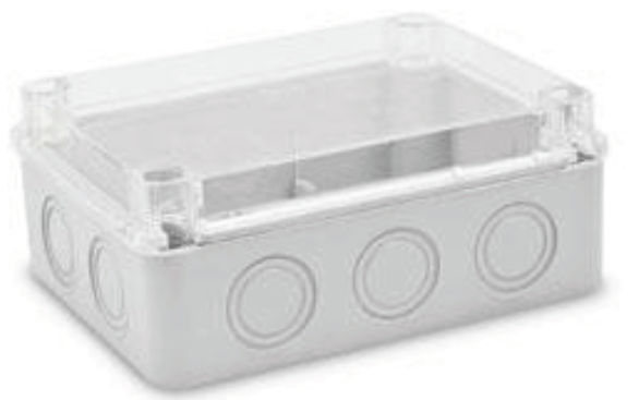 Junction Box with Knock Outs and Transparent Cover